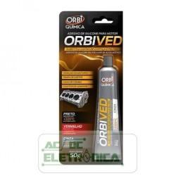 Adesivo silicone para motor +320ºC cinza 50g - Orbived
