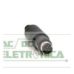 Conector 8 vias macho mini DIN circular ( plug mini din 8 vias macho)