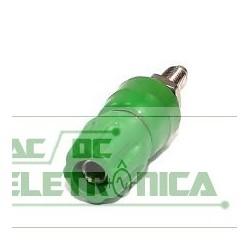 Borne 4mm 25Amp verde B160
