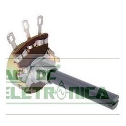 Potenciometro 1K (A) linear carvão 23mm eixo plastico(Nacional)