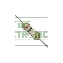 Resistor 0R10 1/4w 5% - Marrom preto prata dourado