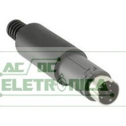 Conector 6 vias macho mini DIN circular ( plug mini din 6 vias macho)