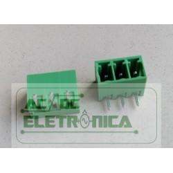 Conector 03 vias 3.50mm 90º PCI - ECH350R-03p