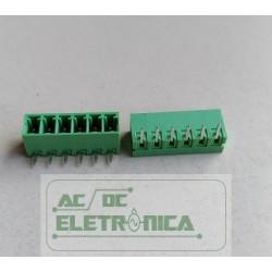 Conector 06 vias 3.50mm PCI 90º- GSP002RC-3.50-06p(ECH350R-3.50-06p)