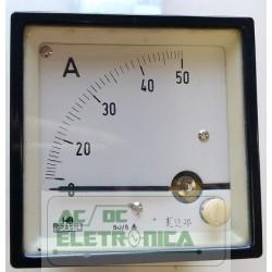 Amperimetro analógico 50A 72x72mm - 50/5A