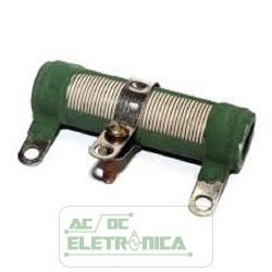 Resistor 40R 25W ajustavel tubular