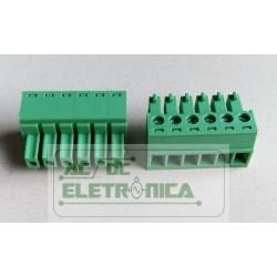 Conector 06 vias 3.50mm Borne - GSP002-3.50-06p