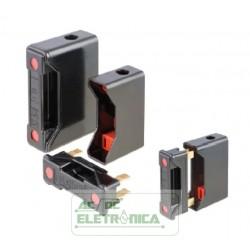 Porta fusivel 20A 600V RS20 red spot