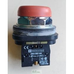 Botão de comando impulso NF M30 vermelho XB3 BP42