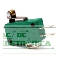 Chave micro switch haste curta roldana NSO 15mm 10A 250v Metaltex