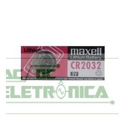 Bateria botão 3V CR2032 200mAh lithium Maxell