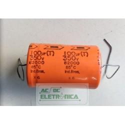 Capacitor eletroitico 100uf 350v 85ºC axial siemens 25x39mm