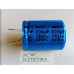 Capacitor eletroitico 100uf 380v 85ºC  31x39mm