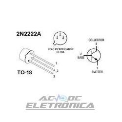 Transistor 2N2222A Metalico