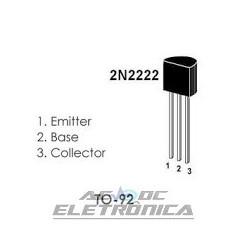Transistor 2N2222A Plastico