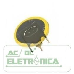 Bateria botão 3V CR2032 200mAh c/ 3 terminais