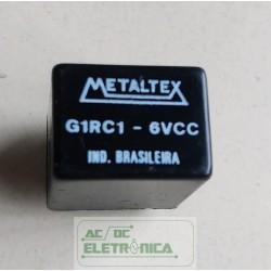 Relé 6Vcc 10A 1 contato reversivel G1RC01