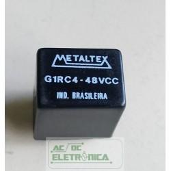 Relé 48Vcc 10A 1 contatos reversivel G1RC4