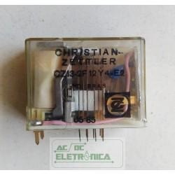 Relé CZ13-2F 12Y4-E2 4 contatos 14 pinos C.zettler