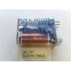 Relé AZ10 - 3815-2 2 contatos 10 pinos A.zettler
