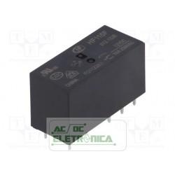 Relé 12Vcc 8A 2 contatos reversiveis PCI - HF115F