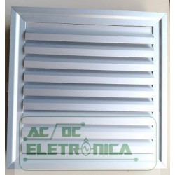 Grelha p/ventilador com filtro 185x185x29mmm alumínio