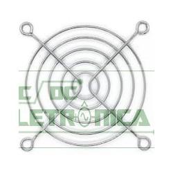 Grade p/ ventilador 80x80mm metal cromado