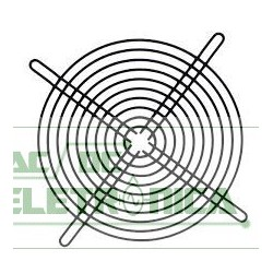 Grade p/ ventilador 180x180mm metal preto