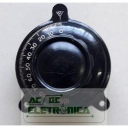 Knob redutor dial vernier 8/1 50mm 180º 64 joto