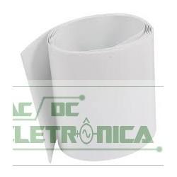 Tubo termo retratil PVC 210mm(chato) diametro 133,5mm branco(1 metro)