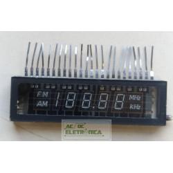 Display p/ rádio relógio 5 digitos 24 terminais AM/FM antigo - 70x20mm
