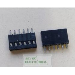 Conector MC1 header femea 1x6 vias