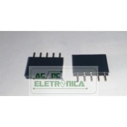 Conector MCS1 header pci femea 1x5 vias