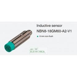 Sensor indutivo tubular 8mm 2 fios - NBN8-18GM60-A2-V1 PEPPERL+FUCHS