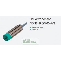 Sensor indutivo tubular 8mm 2 fios + terra - NBN8-18GM60-WS PEPPERL+FUCHS