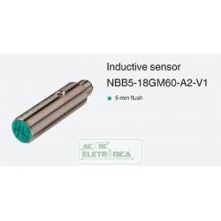 Sensor indutivo tubular 5mm 4 pinos - NBB5-18GM60-A2-V1 PEPPERL+FUCHS