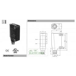 Sensor de luz de reflexão ML100-8-H-350-RT/95/103 PEPPERL+FUCHS