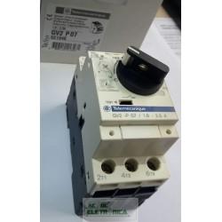 Disjuntor termomagnético motor GV2 P07 Tesys 1.6-2.5A 100Ka manopla rotativa