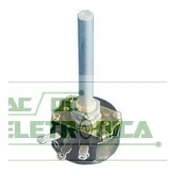 Potenciometro fio 47K 4W 30mm eixo aluminio 35mm