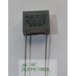 Capacitor polipropileno 4,7nf x 250v~ MKT y2/x1