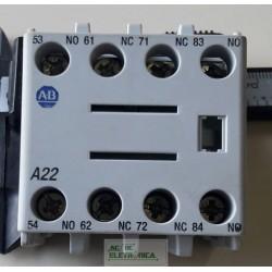 Bloco de contato auxiliar 100-FA22 Allen-Brandley
