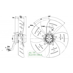 Ventilador axial 450mm 230vca - A4E450-AP01-01 - ebmpapst