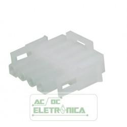 Conector 04 vias macho hylok 6,35mm 660504HM - Excon