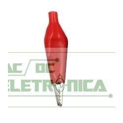 Garra jacare pequena 35mm vermelha (importada)
