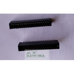 Conector 36 vias edge PCI 2x18 180º - passo 2.54mm