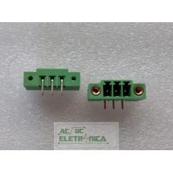 Conector 03 vias 3.50mm 90º PCI c/flange - ECH350RM-03p