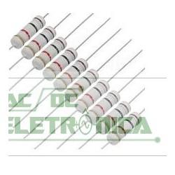 Resistor 0R82 2w 5% - Cinza vermelho prata dourado