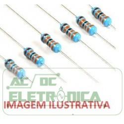 Resistor 0R82 1/4w 5% - Cinza vermelho prata dourado