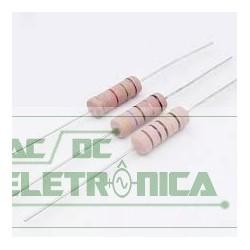 Resistor 0R82 3w 5% - Cinza vermelho prata dourado