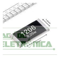 Resistor 100R 1/4w 1%  SMD 1206